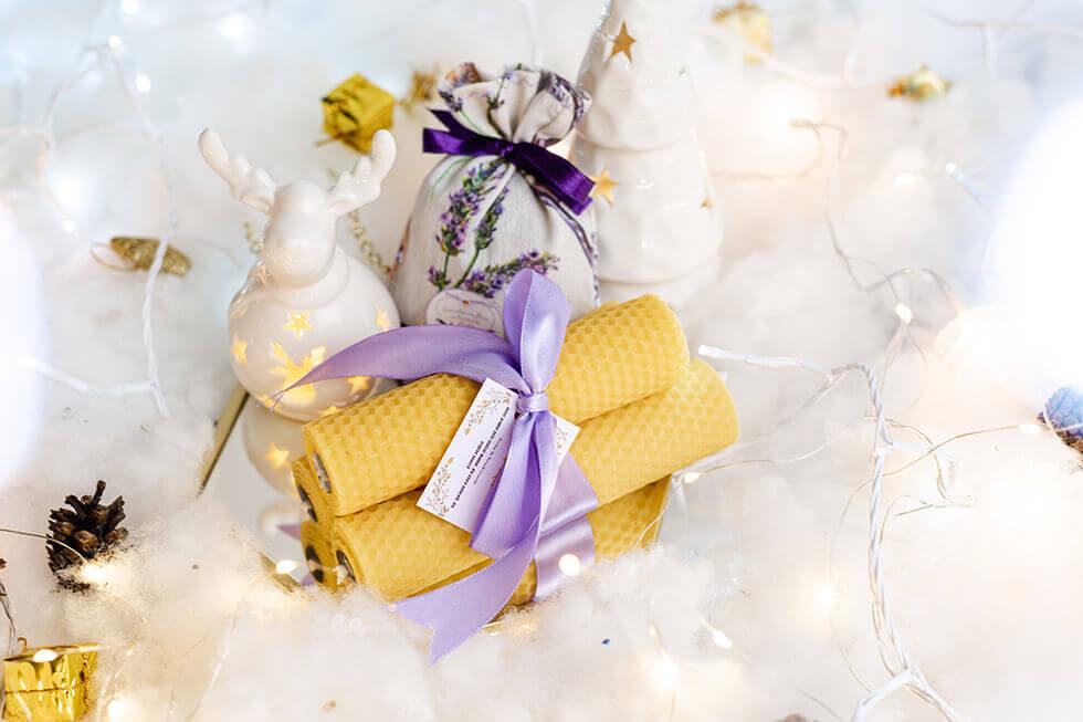 Botez&Lavanda lumanari din ceara naturala de albine