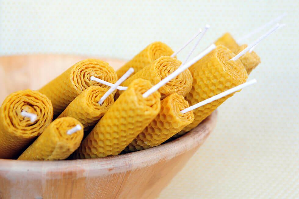 Lumânări din ceară naturală de albine Producător local Adu-ți aminte!